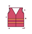 vest icon design vector image
