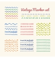 Vintage Marker strokes set vector image