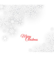 white abstract Christmas background vector image