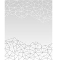 white gray geometric polygonal fractal background vector image