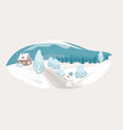 winter isolated landscape background vector image vector image