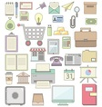 Cute business Icon collections vector image