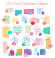 Christmas Countdown Calendar vector image