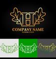 02 oak letter h vector image vector image