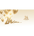 24th anniversary celebration background vector image vector image
