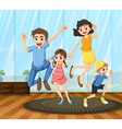 A happy family vector image vector image