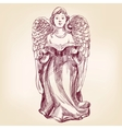 angel hand drawn vector image vector image