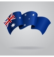 Australian waving Flag vector image