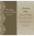 Baroque invitation dull gold vector image vector image