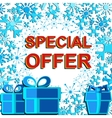 Big winter sale poster with SPECIAL OFFER SALE