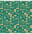 Bike seamless pattern vector image