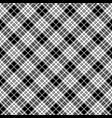 blackberry tartan black white pixel seamless vector image vector image