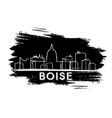 boise skyline silhouette hand drawn sketch vector image vector image