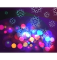 Bokeh effect christmas background with snowflakes vector image vector image