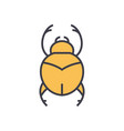 bugs simple egypt flat line concept vector image vector image
