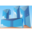 business office building vector image vector image
