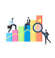 business statistics chart or graphic businessmen vector image vector image