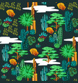 cactus seamless pattern exotic background vector image