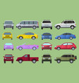 car city different model objects icons set vector image vector image