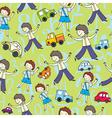 children numerals vector image