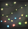 christmas lights realistic elements glowing vector image