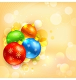 Colorful Christmas Bauble vector image