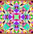 colorful kaleidoscope pattern background design vector image vector image