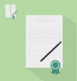 Contract with ribbon vector image