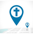 cristian map pointers icon flat chirch vector image