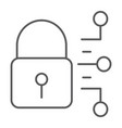 cyber security thin line icon protection security vector image vector image