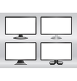Design computer monitors set vector image