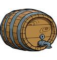 doodle wine barrel vector image