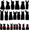 Dresses for parties vector image vector image