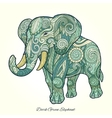Elephant dark green ornament ethnic vector image vector image