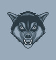 evil and scary wolf tattoo style vector image vector image