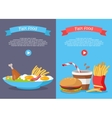 Fast Food Conceptual Banner for Web Site Design vector image vector image