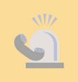 flat icon on stylish background phone alarm lamp vector image vector image