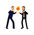 flat of two aggressive men vector image