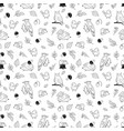 forest animal pattern cute animals and birds vector image