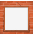 Frame on brick wall vector image