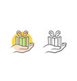 give a gift icon vector image vector image