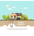 Green energy Eco friendly house vector image