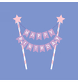 Happy birthday decoration Cake topper vector image