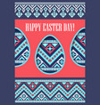 holiday spring greeting card eggs paper cut and vector image