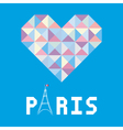 I love Paris card6 vector image