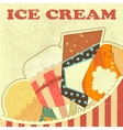 Ice Cream Retro color vector image