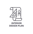 interior design plan line icon sign vector image
