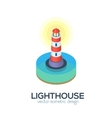 isolated isometric lighthouse icon vector image