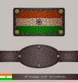 label of a flag of india vector image vector image