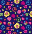 love and peace seamless pattern vector image